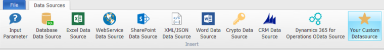Integrate Custom Data Sources into documents.