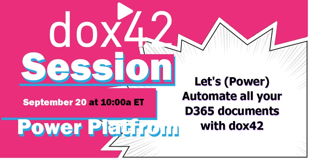 dox42 Session Power Platform Track