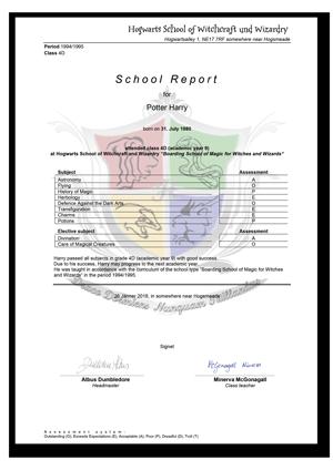 school reports template