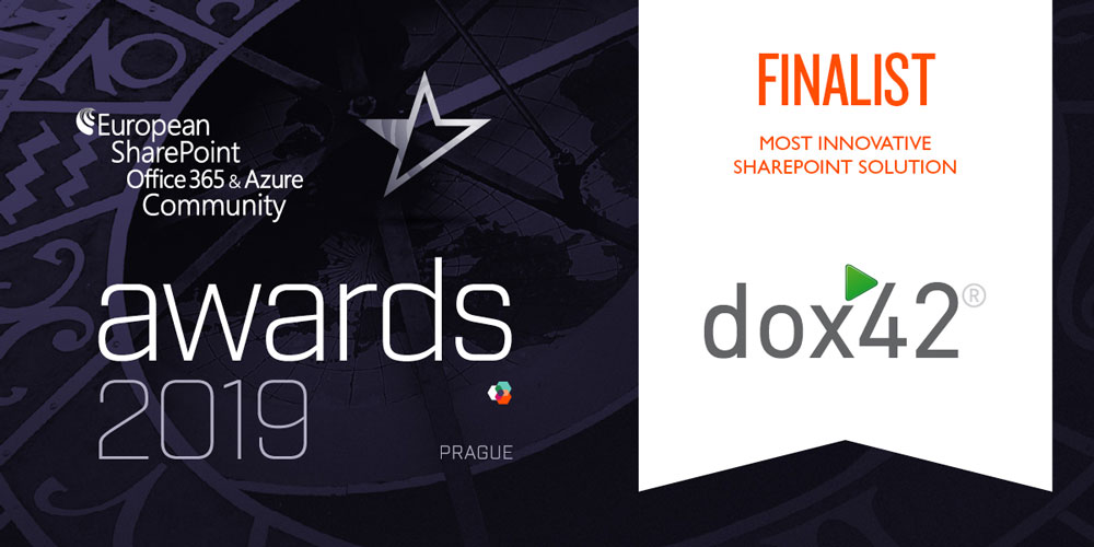 dox42 is a finalist at the European SharePoint, Office 365 & Azure Community Awards!