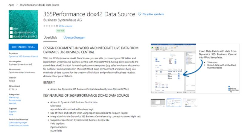 """365Performance dox42 Data Source"" by Michael Zettl, BSH AG"