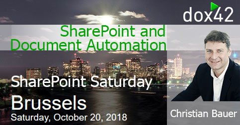 Treffen Sie dox42 am SharePoint Saturday Belgium, 20. Oktober, 2018