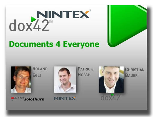 Documents for Everyone mit NINTEX& dox42