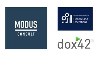 Logos Modus Consult, Microsoft Finance and Operations and dox42