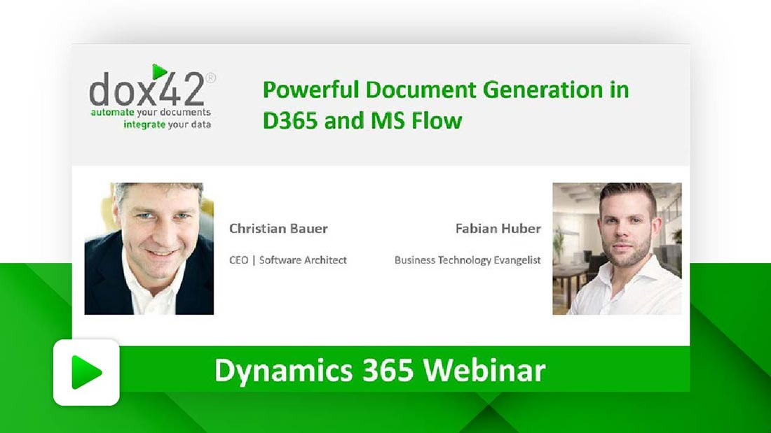 Document Generation in D365 and MS Flow