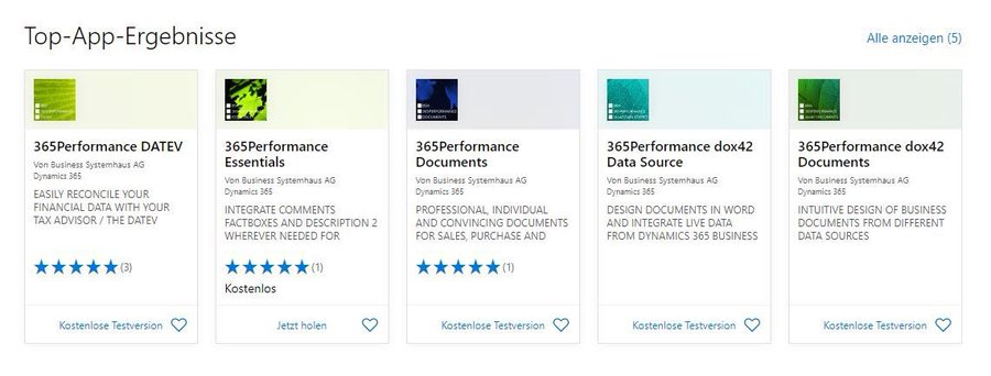 """365Performance dox42 Documents""=5th App in Microsoft's AppSource. Thank you, BSH AG!"