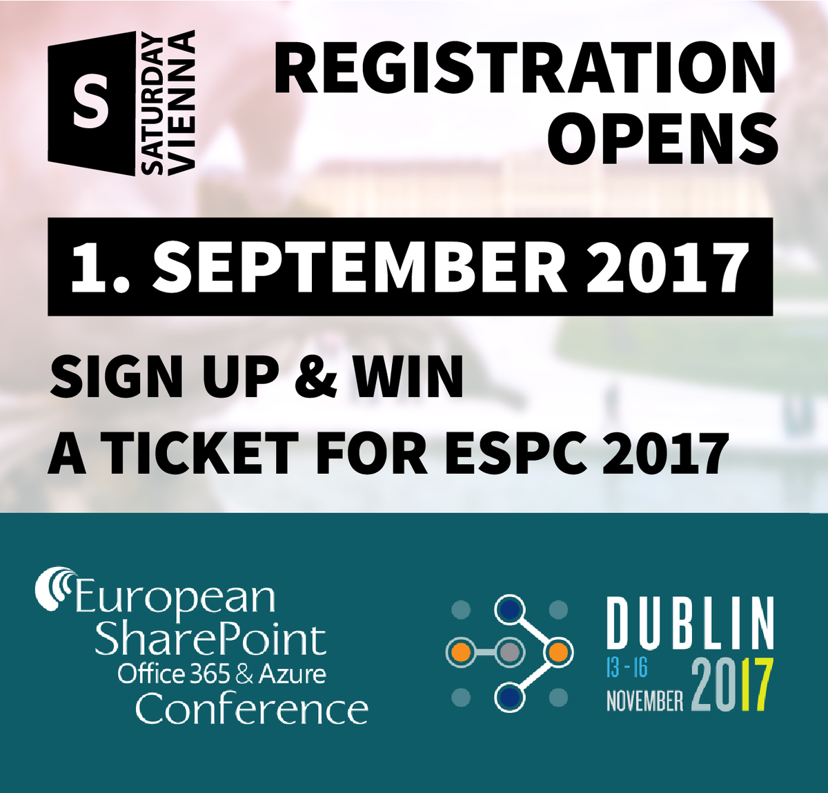 Register to SharePoint Saturday Vienna, win 1 ticket for ESPC17 and meet sponsor dox42 at both events!