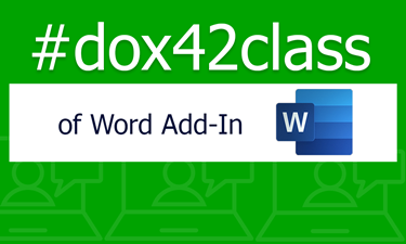 dox42class of Word Add-In
