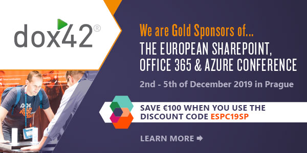 So many events in Autumn... with dox42! ESPC19 for example. Get your discount tickets now!