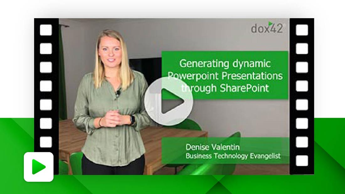 Generating dynamic PowerPoint Presentations through SharePoint