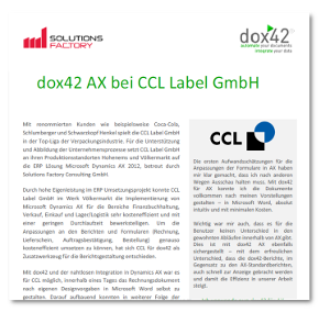 Case Study Solutions Factory und dox42