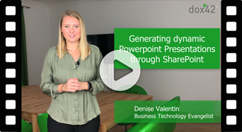 "dox42 Tips and Tricks: ""Generating dynamic PowerPoint Presentations through SharePoint"""