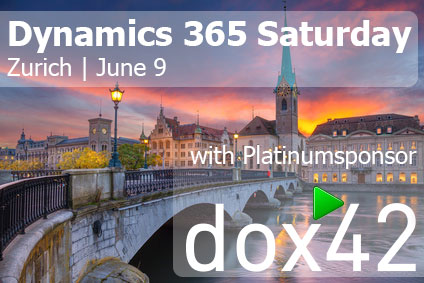 You'll be at Dynamics 365 Saturday Zurich this weekend?