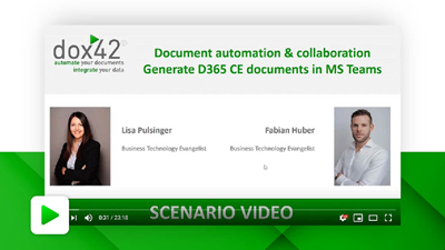 Document automation & collaboration – generate D365 CE documents in MS Teams