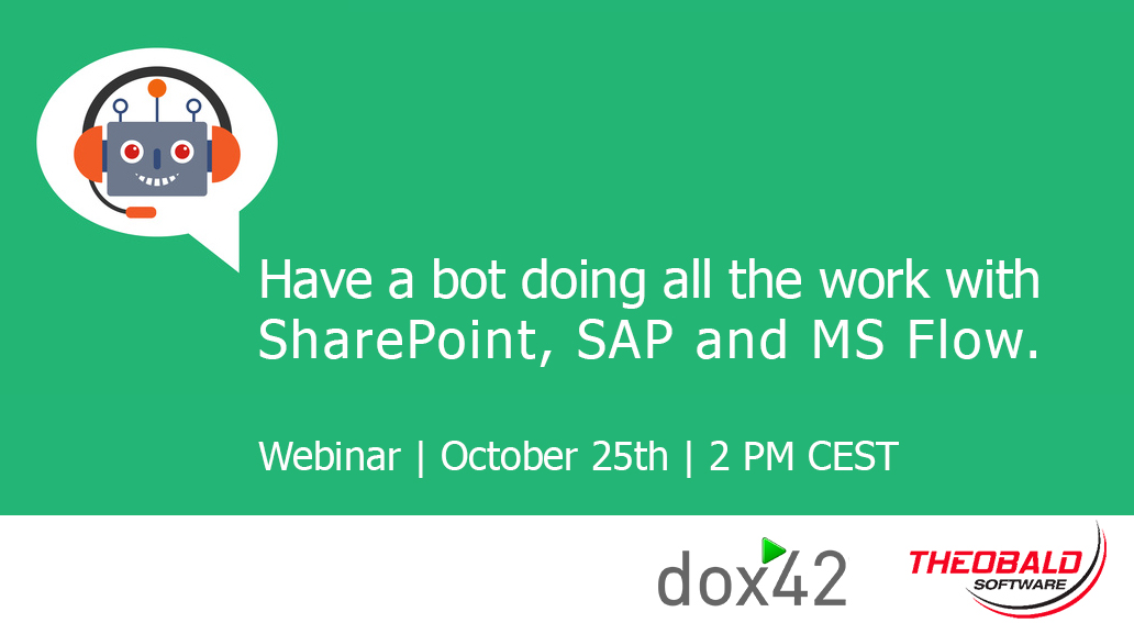 """Have a bot doing all the work with SharePoint, SAP and MS Flow."" Jetzt anmelden!"