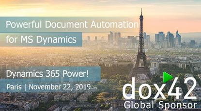 D365 Saturday Paris 2019 with dox42