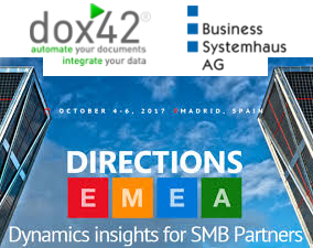 Directions EMEA, October 4-6 in Madrid, with Business Systemhaus AG and dox42