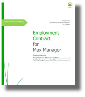 dox42 sample template employee contract