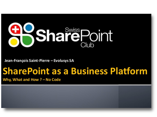 SharePoint as a Business Platform Why, What and How? – No Code